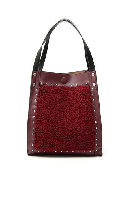 Shopping bag effetto shearling Intrend