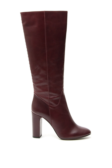 Studded leather boots Intrend