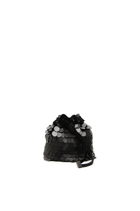 Velvet-effect bucket bag Intrend