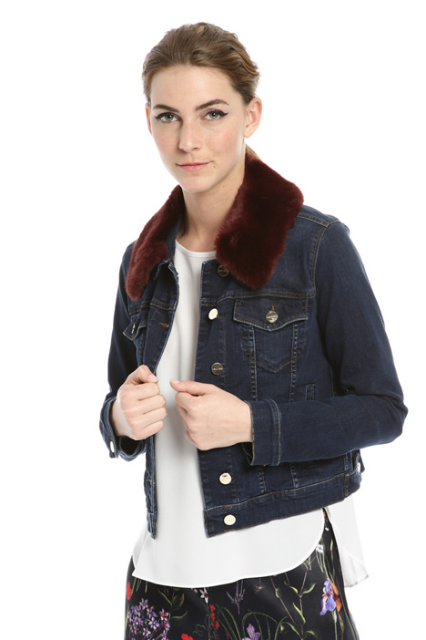 Removable collar jacket Intrend