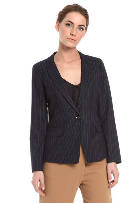Fitted pinstripe blazer Intrend