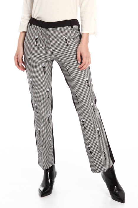 Jersey and fabric trousers Intrend