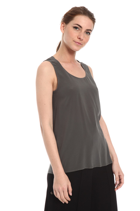 Crepe de chine tank top Intrend