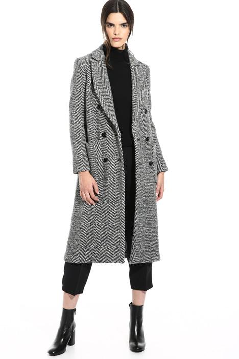 Cappotto chevron in lana Intrend