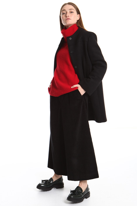 Cappotto in lana girocollo Intrend