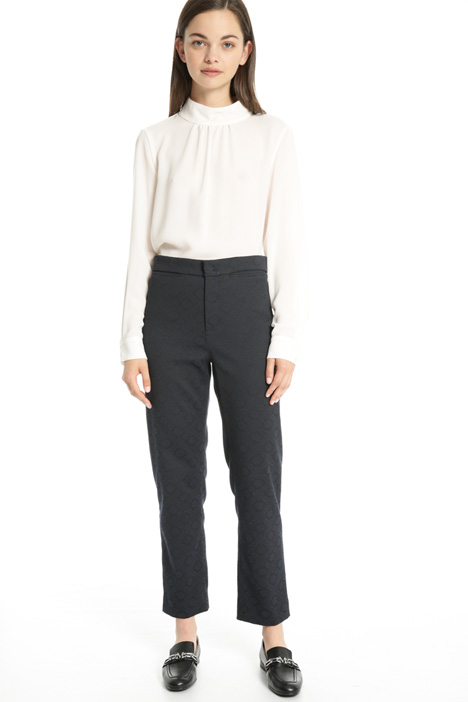 Stretch jacquard trousers Intrend