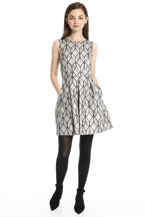 Lurex-effect short dress Intrend