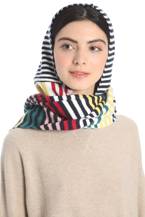 Hooded scarf with stripes Intrend