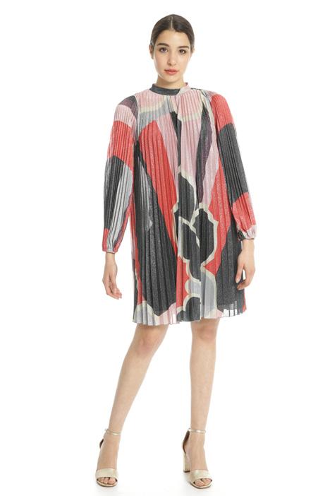 Pleated lurex jersey dress Intrend