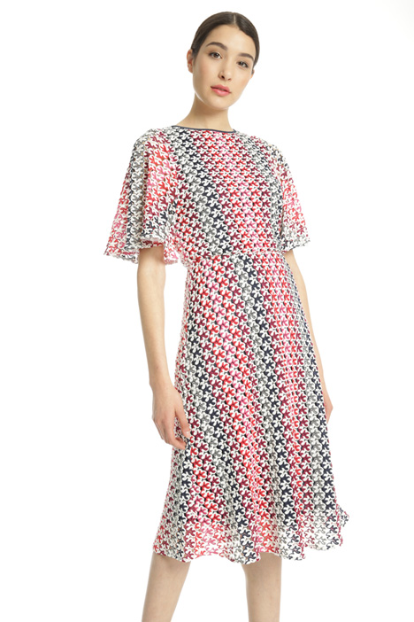 Multicoloured macramé dress Intrend