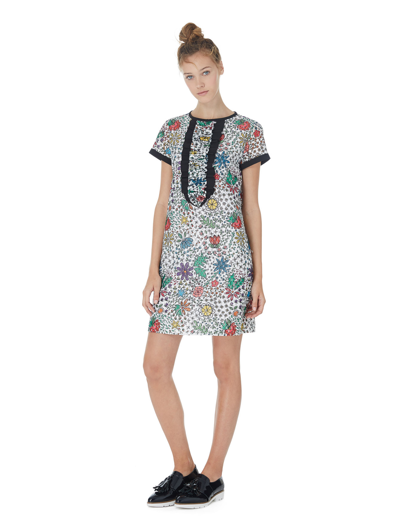 iBloom patterned organza dress