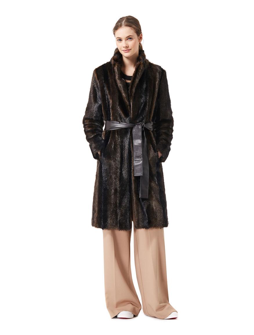 Fur-effect coat
