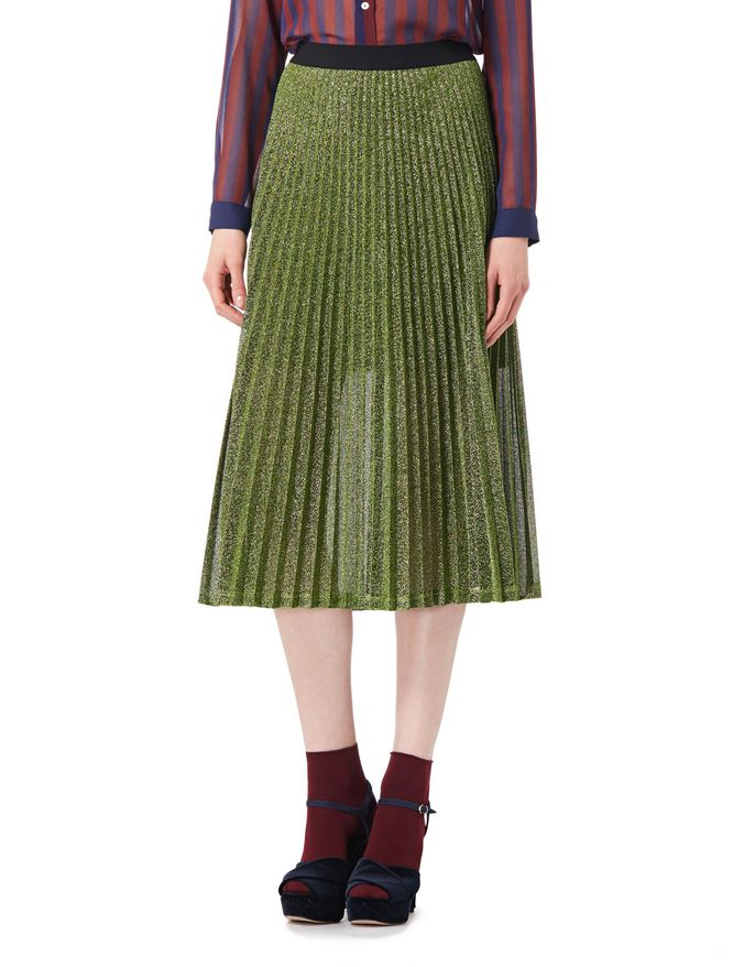 Pleated lurex skirt iBlues