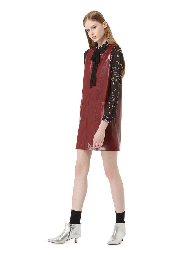 Imitation leather dress iBlues