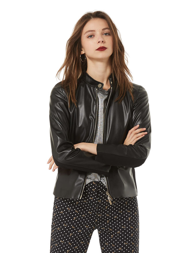 Leather-effect jacket iBlues