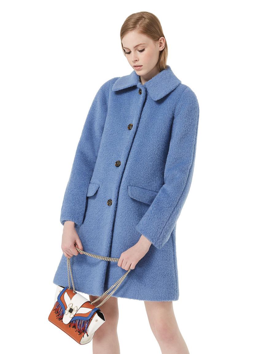 Cappotto in alpaca e mohair