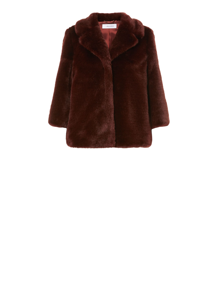 Fur-effect jacket