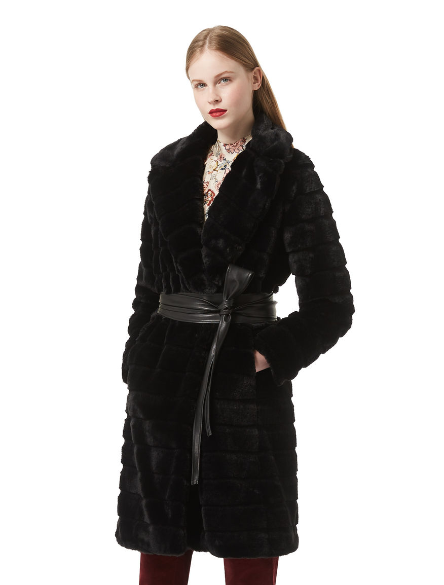 Fur-effect coat