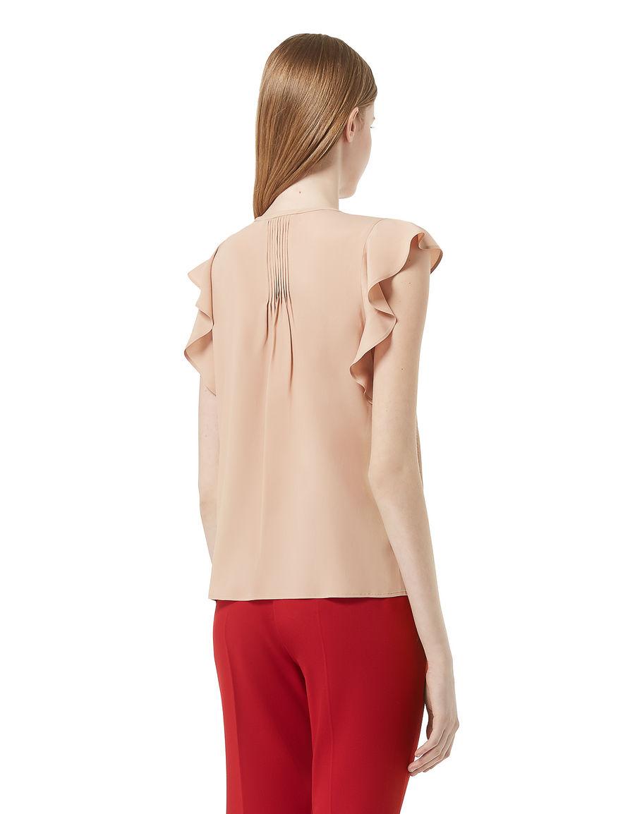 Silk blend top