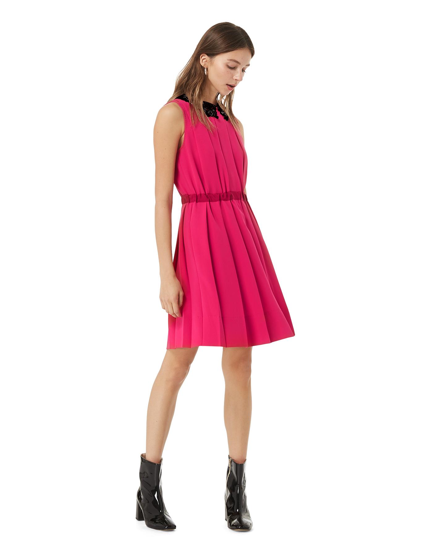 Pleated Dress Fuchsia Iblues Gina Magenta Blazer