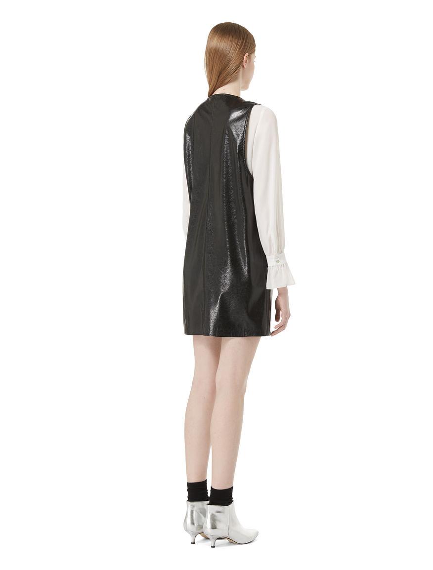 Imitation leather dress