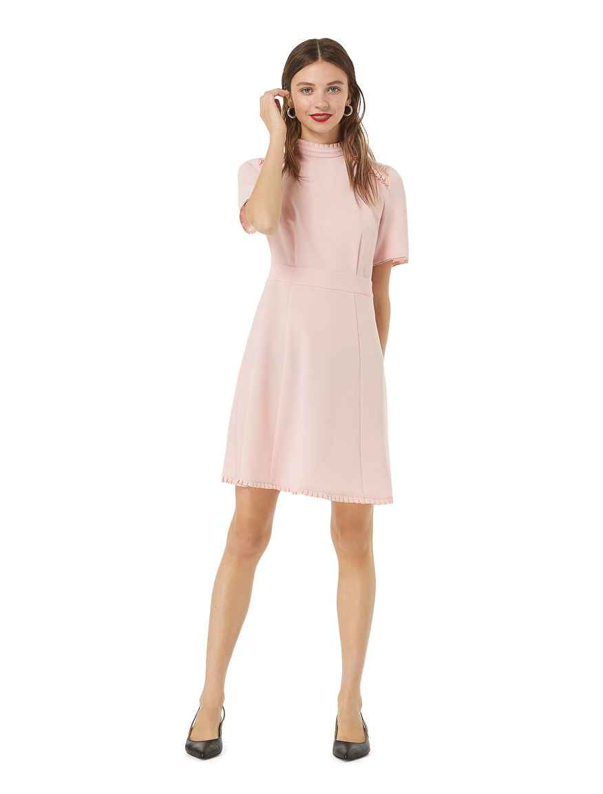 Dress with mini ruches