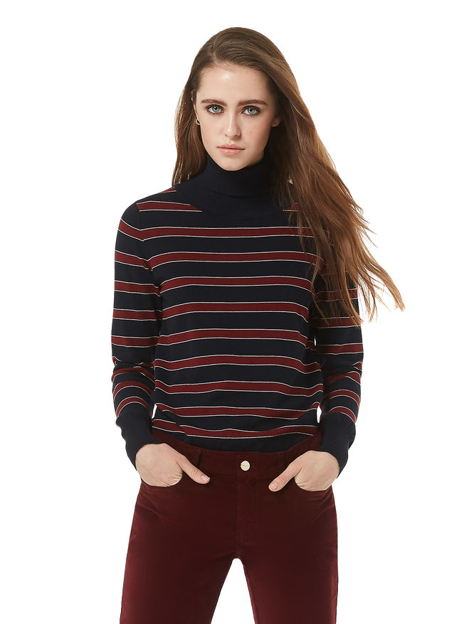 Striped turtleneck sweater iBlues