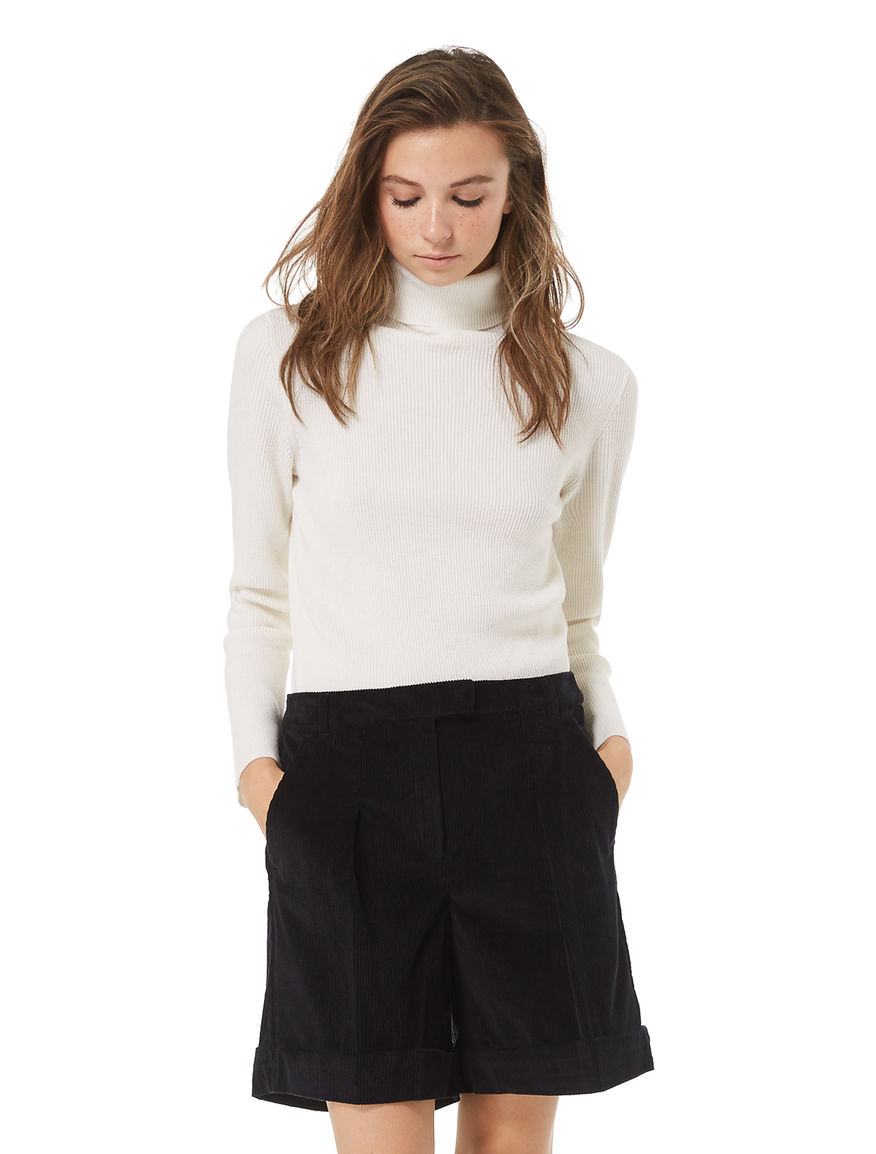 Semi-fitted turtleneck sweater