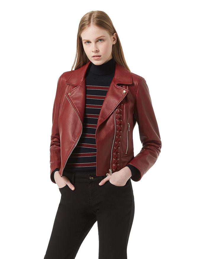 Leather biker jacket iBlues