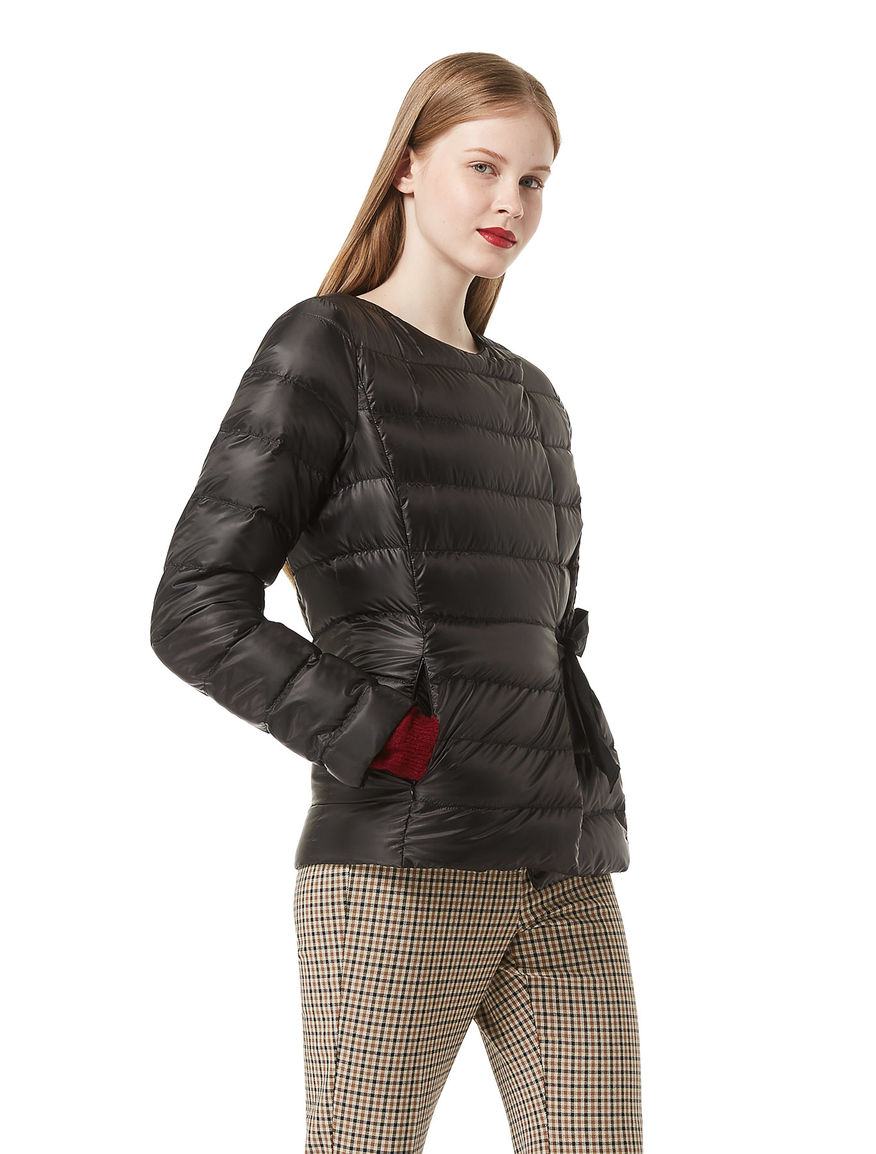 Down jacket with bow