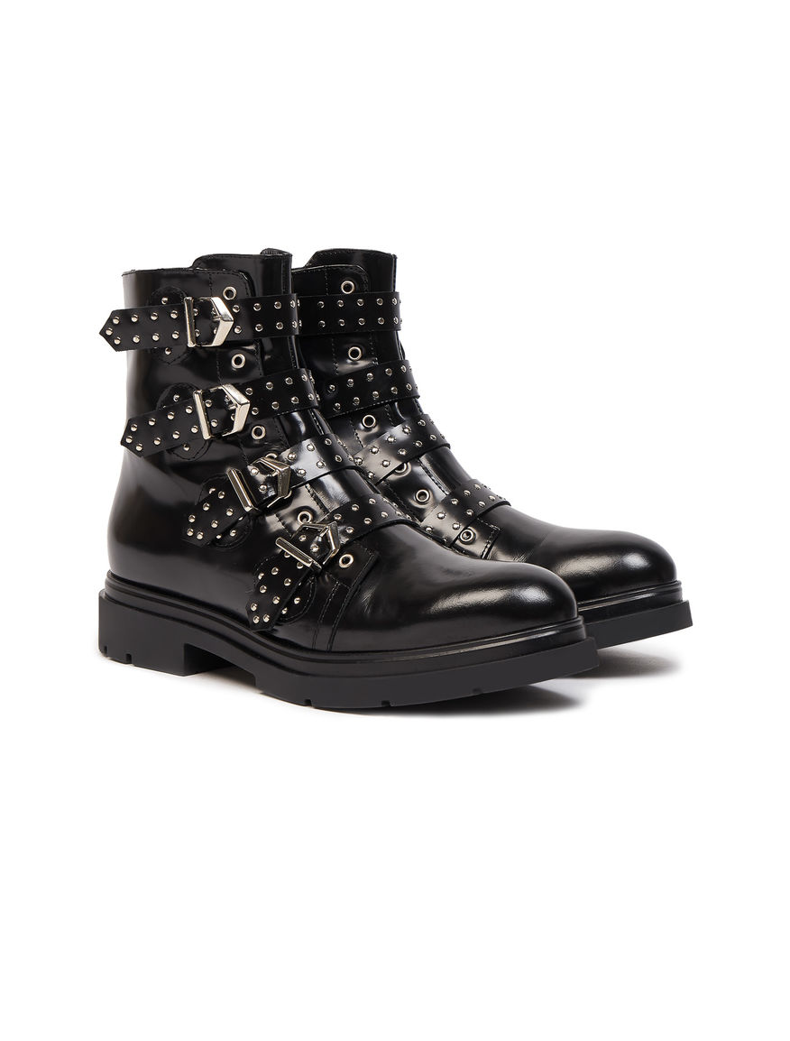 Biker boots con cinghie