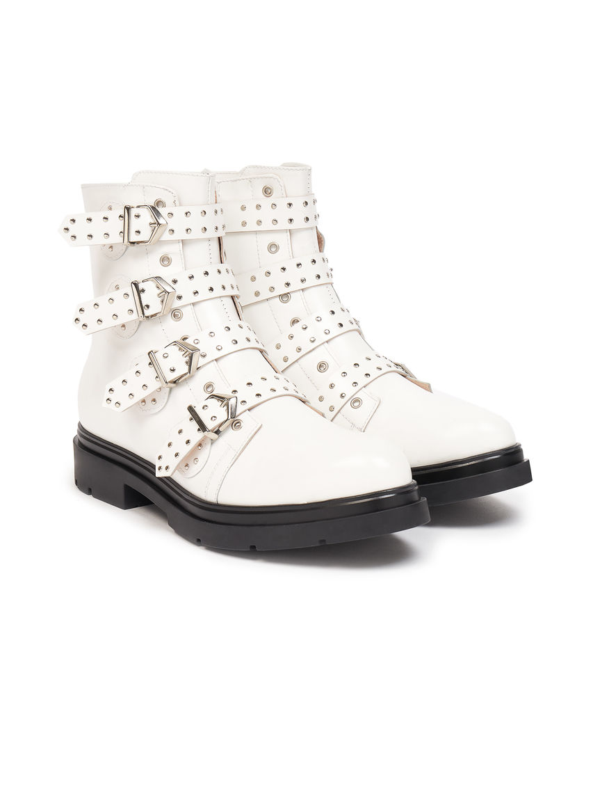Biker boots with straps