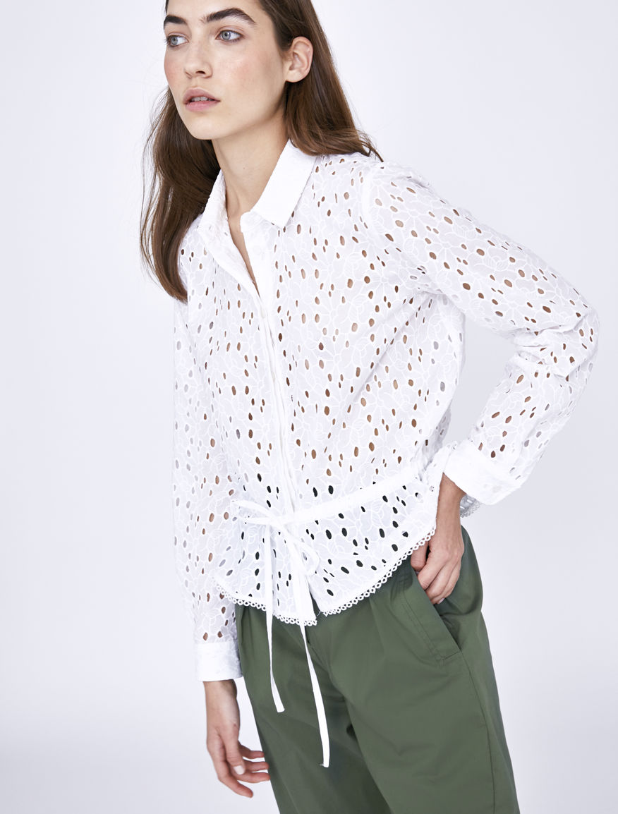 St. Gallen embroidery shirt