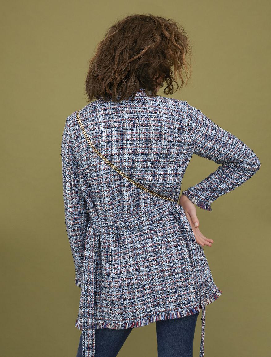 Jacket with fringe