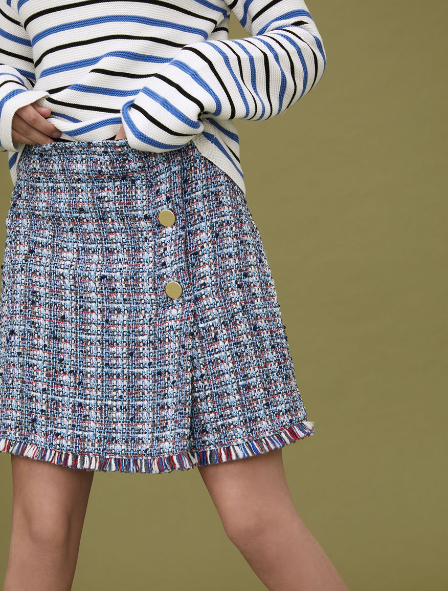 Skirt with buttons