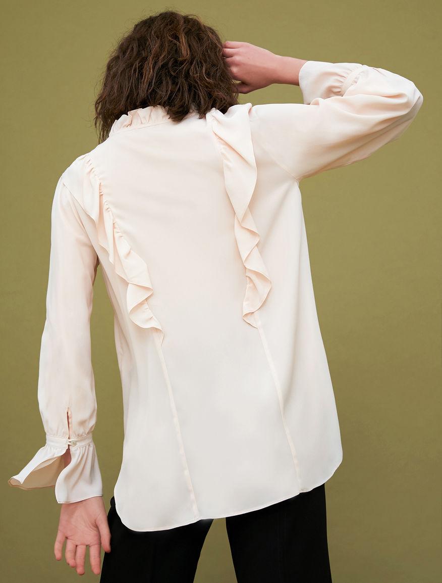 Camicia in misto seta