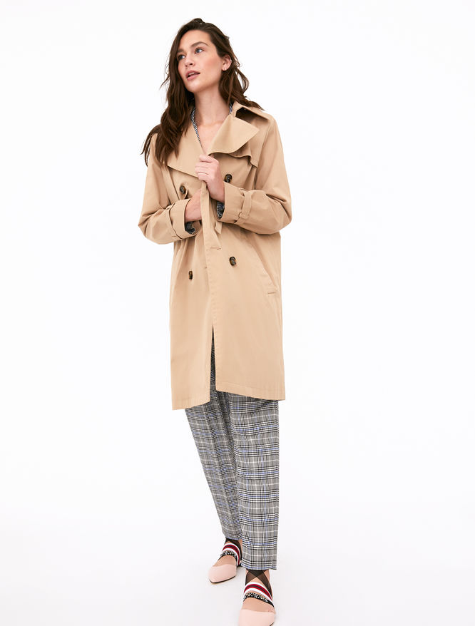 Double-breasted trench coat iBlues