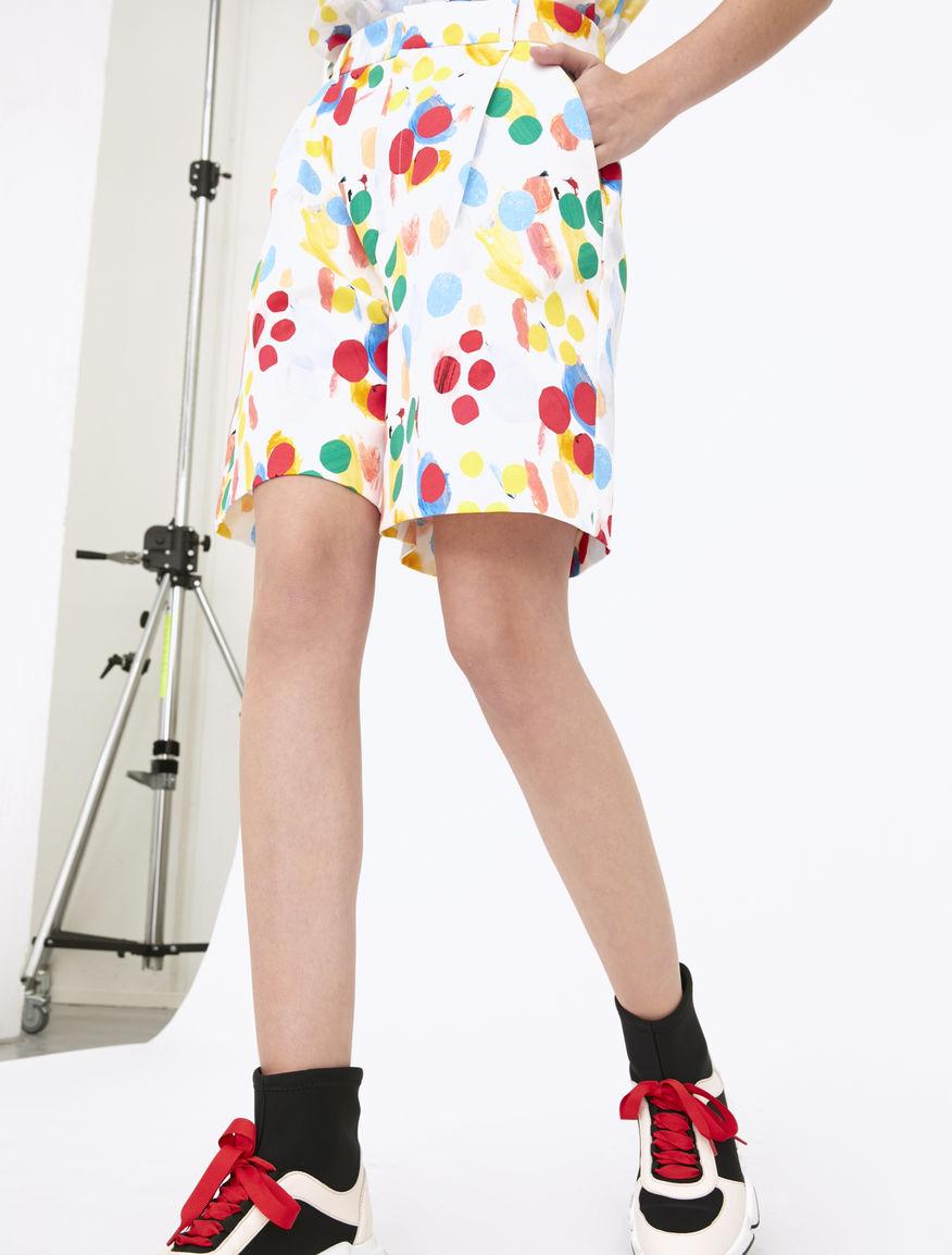 Artastic printed Bermuda shorts