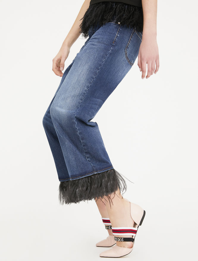 Jeans with feathers iBlues
