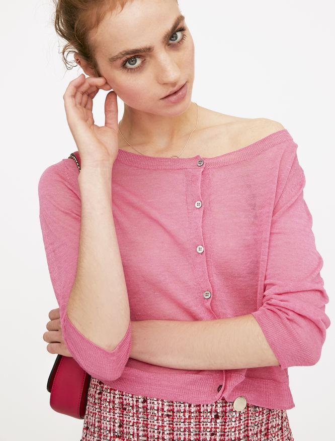 Linen-blend cardigan iBlues