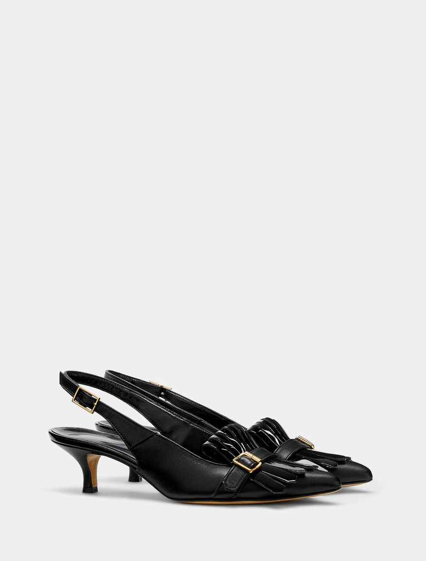 Point-toe slingbacks