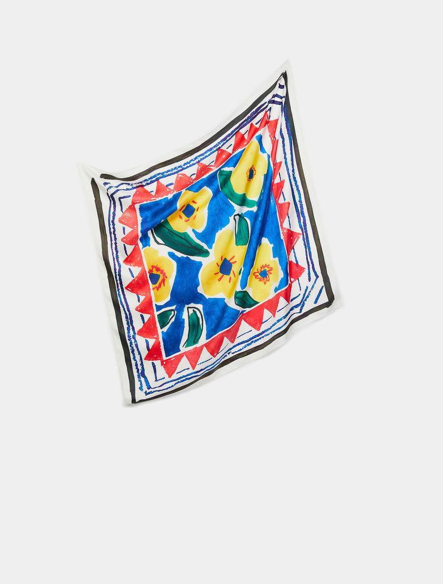 Artastic pure silk foulard