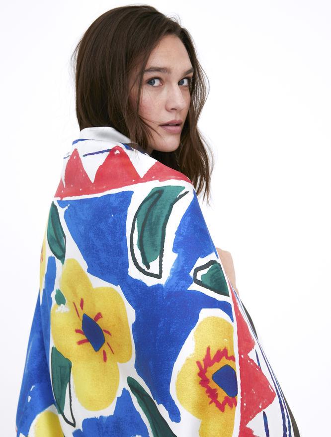 Artastic pure silk foulard iBlues