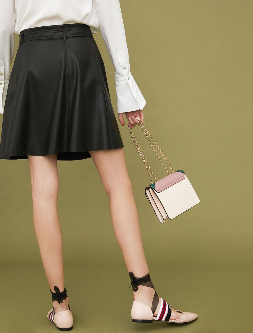 Belted miniskirt