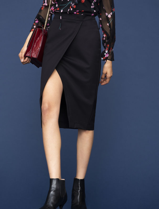 Pencil skirt with slit iBlues