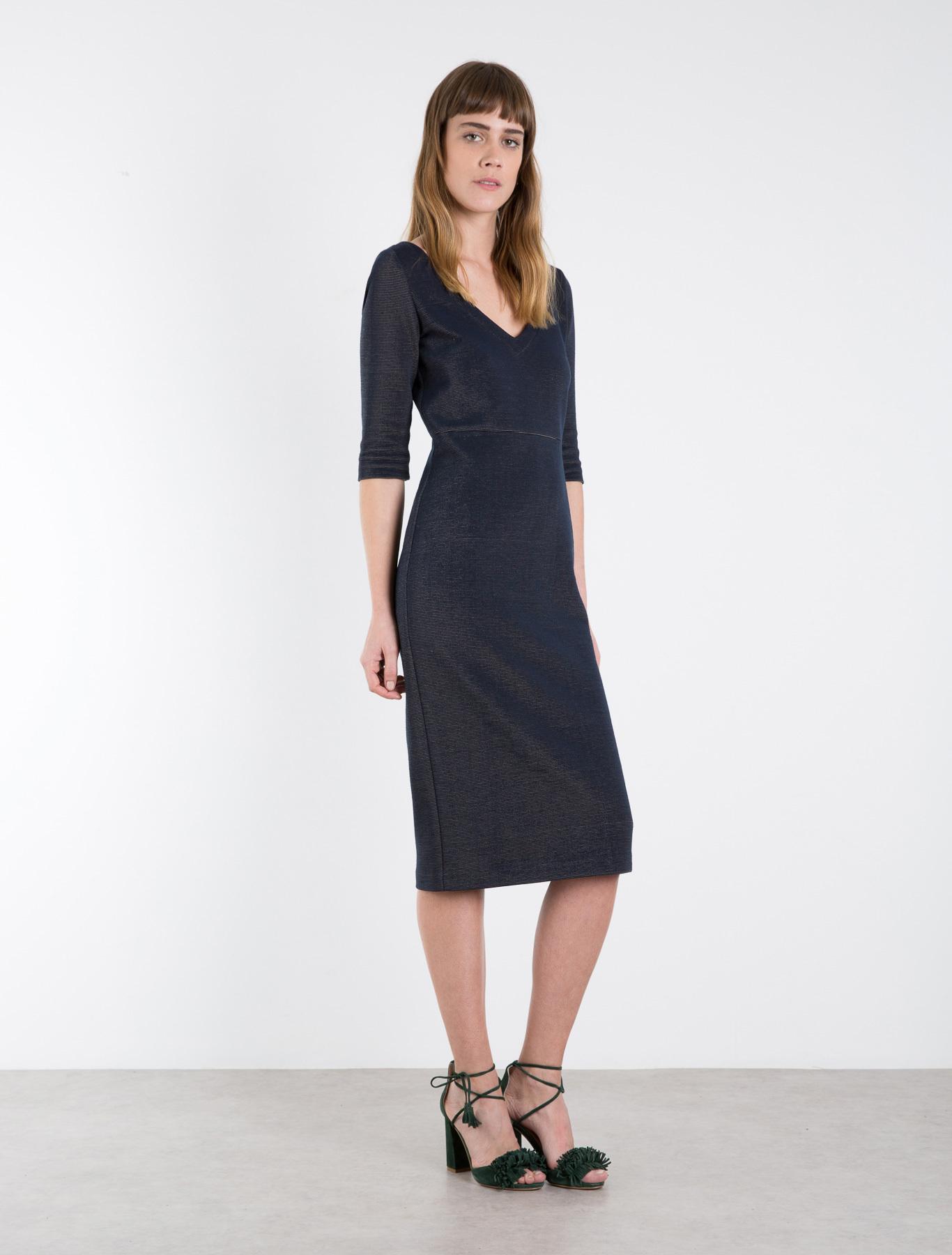 knitwear dress navy marella