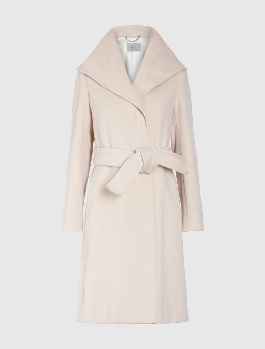Cashmere blend coat cream - Marella