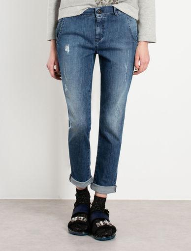 Jeans effetto used Marella