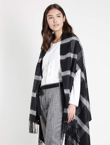 Patterned poncho Marella