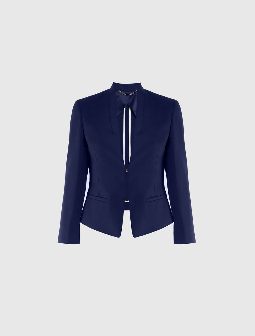 Short-length blazer, navy - Marella